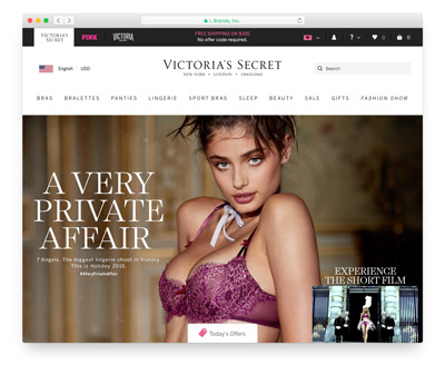 Victoria's Secret… has an advantage over other lingerie and swimsuit stores because most women have the understanding what their size is within Victoria Secret merchandise...