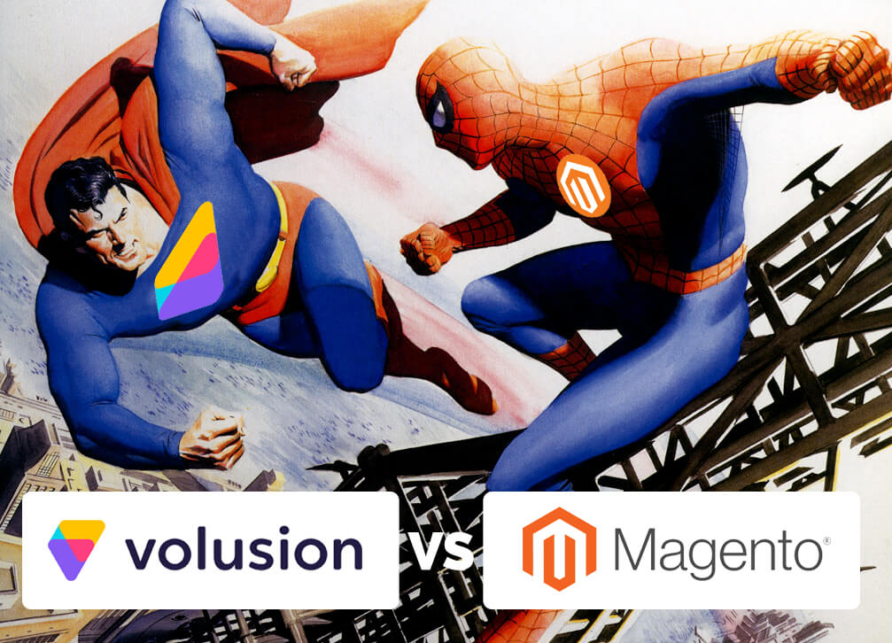 This is a series of comparing competitor carts Volusion and Magento.