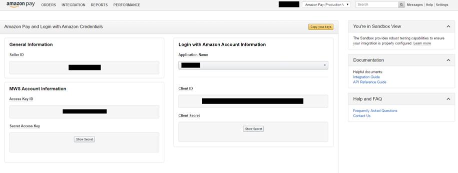 Amazon Pay Instructions - SearchFit Shopping Cart